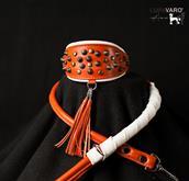 Collares suave, elaborado con finas pieles italianas. Una tormenta de piedras qu