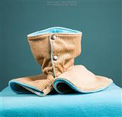 Cappottino in velluto a coste per la parte esterna ed interno in polarfleece. Caldo ed elegante