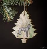 I nostri bellissimi alberi di Natale con la forma del tuo cane preferito Nelle bellissime colorazio