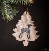 Unsere schönen Weihnachtsbäume mit der Form Ihres Lieblingshundes In schönen Sh [...]